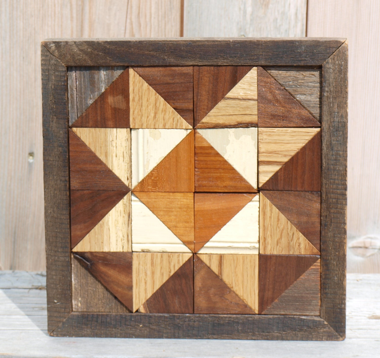 Wooden Board Wall Decor : Salvaged barn board wall decor geometric art wood