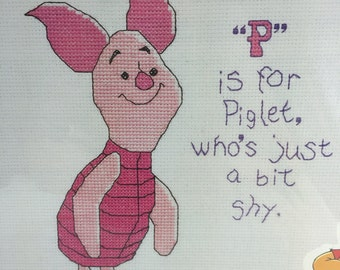 "Piglet Counted Cross Stitch Kit 34008  ""P is for Piglet"""