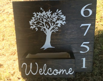 Address Planter Box. Address numbers. Address plaque. Planter box. House numbers. Decorative address display