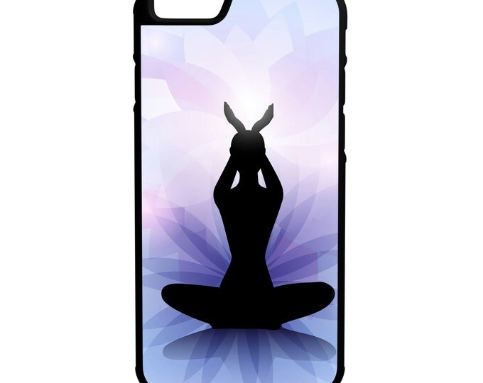 Yoga Purple Design iPhone Galaxy Note LG HTC Hybrid Rubber Protective Case