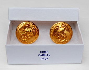 USMC Buttons Cuff links or tie tac/hat pin