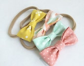 Build Your Own - MINI Hair Bows - Set of Four (4). Pick Your Pattern from our bow collection! Includes 4 minis.  Newborn - Toddler Bows.