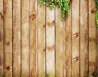Photography Backdrop, Newborns photobooth wood background, vintage wood planks with green grass photodrop D-1769