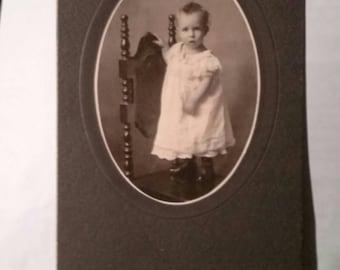 Antique Photo of Toddler Pottenger Studio Witchita KS