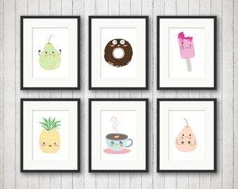 Kids Room Art - Nursery Wall Art - Girls Room Decor - Food Nursery Decor - Baby Room Art - Cupcake Art - Children's Wall Art - Ice Cream Art