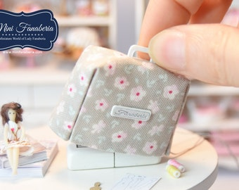 Sewing Machine COVER-  miniature handmade Dollhouse 1:12 sewing room