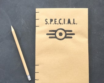 """Fallout 4 Blank Coptic Journal """"You are S.P.E.C.I.A.L."""" Vault-tec"""