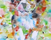 BEAGLE - original watercolor painting - one of a kind!