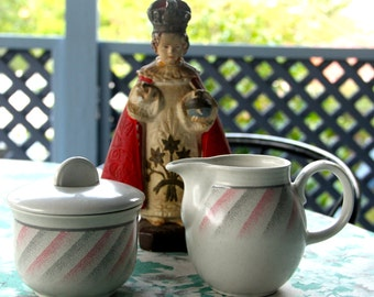 Vintage 1980's Churchill Sugar Bowl and Creamer