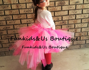 Flaming Style Tutu - Shade of Pink   Bustle Tutu  Baby Girl 6 12 Months 2T 3T 4T 5T 6 7 8 10 12 Adult-