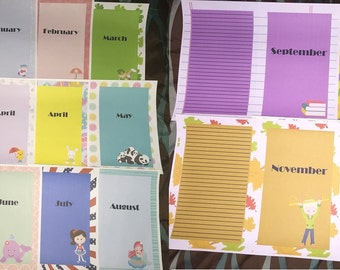 Planner Esty Inserts Half Page A5 Printable