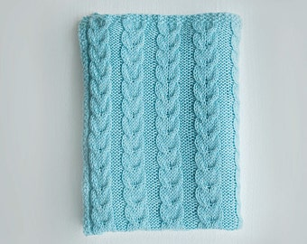 Cable Knit Baby Blanket Knitting Pattern