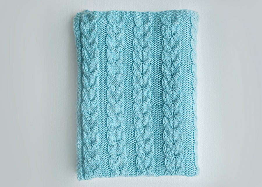 Knitting Pattern For Baby Blanket With Cable : Cable Knit Baby Blanket Knitting Pattern