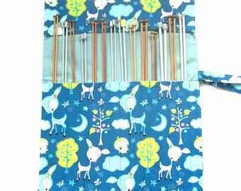 Knitting needle case, needle organizer