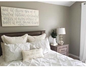 Home Decor | Rustic | Shabby Chic | I'd Choose You | Romantic | Anniversary | Wedding