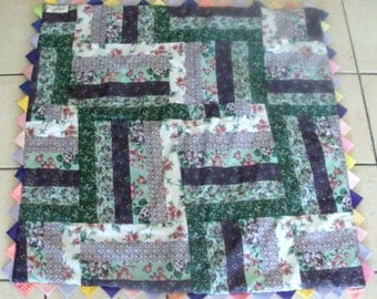 Spring Floral Muti-Colored Quilt