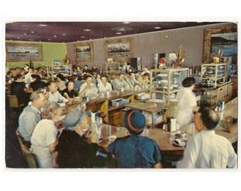 Granger Wyoming vintage postcard | Covey's Little America travel center | 1950s WY retro travel souvenir, vacation scrapbook, Americana art