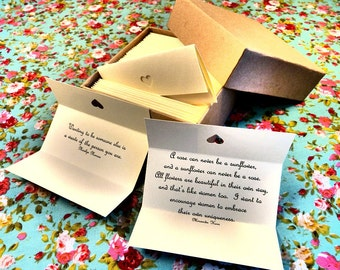 Body Confidence Quotes - Box of 50 Handmade Quotations
