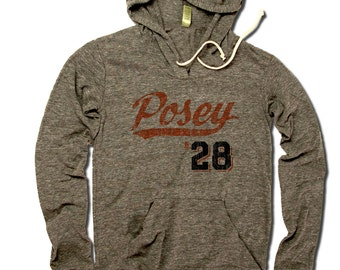 Buster Posey MLBPA Officially Licensed San Francisco Women's Hoodie S-XL Buster Posey Script O