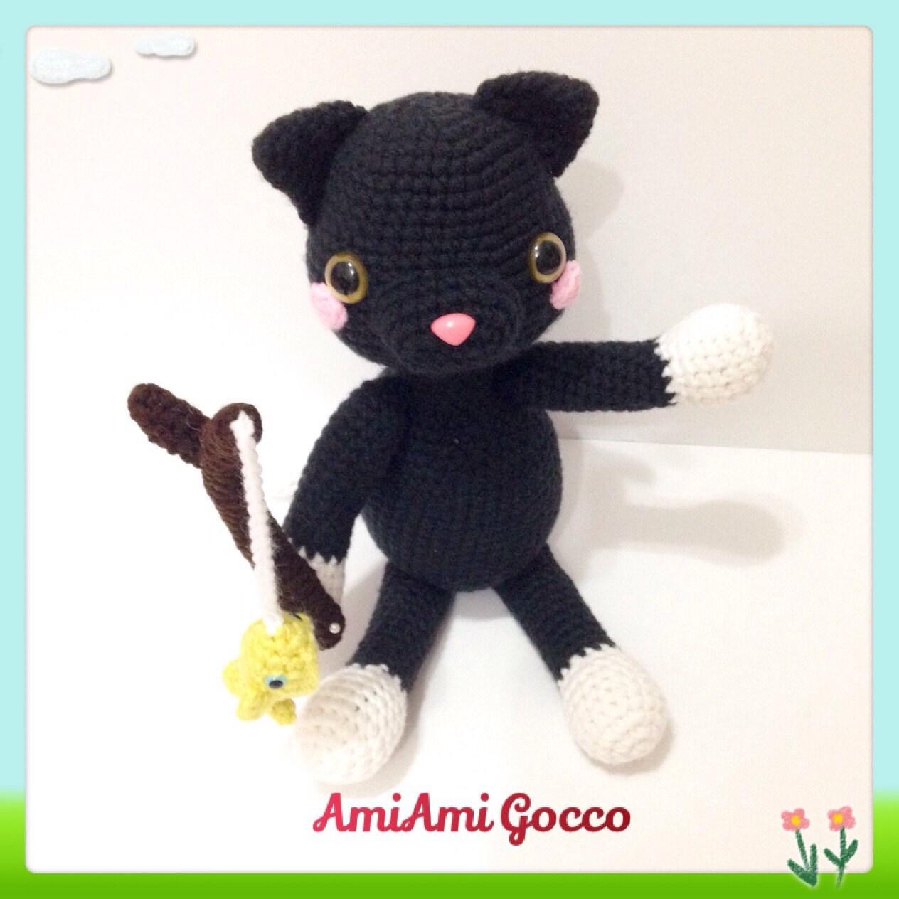 Amigurumi Cat Toys : Amigurumi Cat Toy Amigurumi Black Cat Crochet Toy by ...