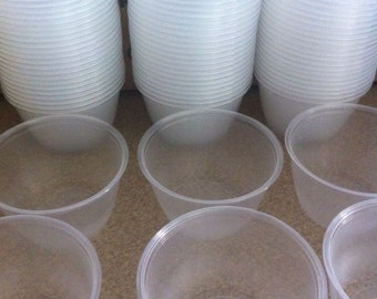 FREE SHIPPING 50 Ct. 4 oz Plastic Souffle Portion Cups