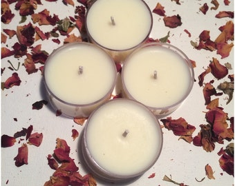 4 Scented Soy Tealight Candles, Tealight Set, 4 Pack, Soy Candle, Scented Soy Candle