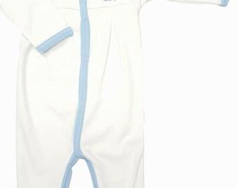 UNC North Carolina Tar Heel Baby Pleated Playsuit