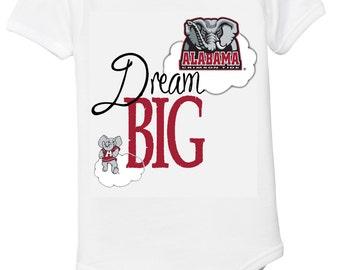 Alabama Crimson Tide Dream Big Baby Bodysuit