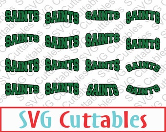 Saints SVG, DXF, EPS, Set of 16 vector layouts, digital cut file
