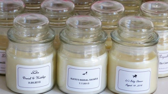 9 Soy Candles Wedding Favors Personalized Candle by Lizush