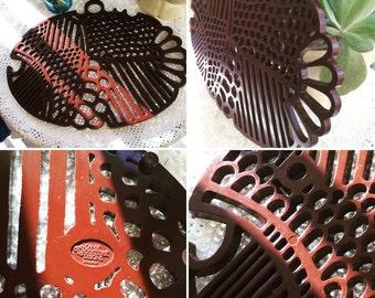 Vintage Dansk chocolate brown fish shaped trivet