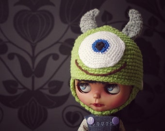 SALE Monster / Mike Helmet for neo blythe dolls
