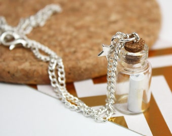 Personalised Necklace Gifts for Sisters Best Friends 'Message in a Bottle'