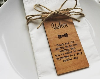 Usher Wooden Place Setting