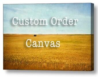 Custom canvas print, gallery wrap, art,