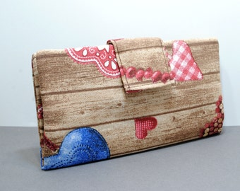 Printed Fabric Billfold Wallet, Printed Fabric Long Wallet, Women's Long Wallet, Women's Billfold Wallet, Gift For Her