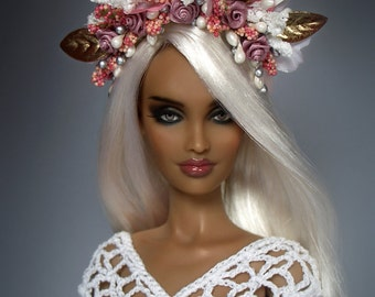 1/6 Scale ROSE FLORAL Crown Headpiece For 16' Sybarite Numina KingdomDoll