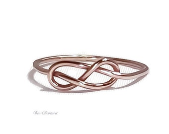 Infinity ring, rose gold infinity ring, promise ring, bridesmaid gift, gift