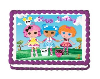 Lala Loopsy Cake Topper with FREE Personalization La La Loopsy Birthday