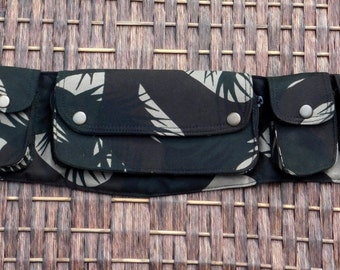 Canvas Utility Belt, Festival Belt,Funny Pack, Hip Belt,Pocket Belt,Money Belt