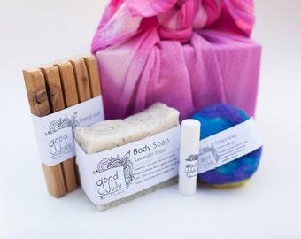 Good JuJu Gift Set - Handmade soap, All natural gift box, handmade gift set, mothers day gift, bath and body gift set, bridesmaids gift