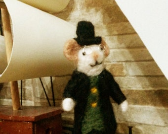 needle felted victorian mouse