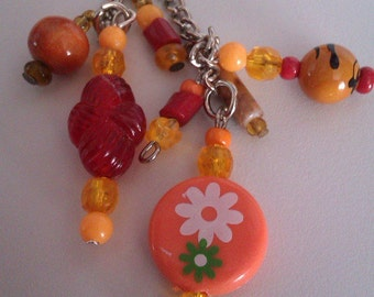 Orange & Amber Key/Bag Charm