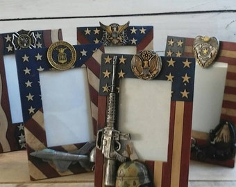 SALE! Military,police officer and firefighter picture frame