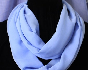 Light Blue Chiffon Infinity Scarf