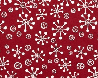 Snowflake in Nutmeg, Winter Wonderland Collection by David Walker for Free Spirit Fabrics 4191