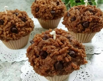 Chocolate chip muffin  candle(4pc/1set)