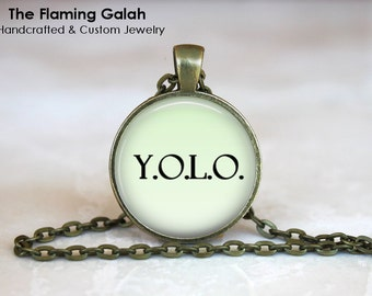 Y.O.L.O Pendant • You Only Live Once • Inspirational • Quote Gift • Motivational • Encouragment • Gift Under 20 • Made in Australia (P1278)