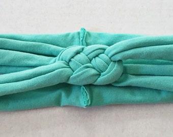 Teal sailors knot headband