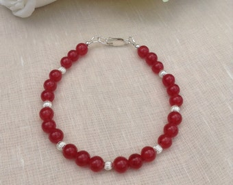 Sterling Silver and Ruby Bracelet